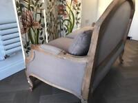Fabulous chic grey 2 seater sofas