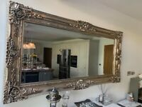 Stunning silver ornate detailed mirror