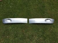 Genuine Original Volkswagen T5.1 Transporter Facelift Lower Bumper Grilles. Reflex Silver. VW T5