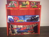 Spider-Man cubby storage