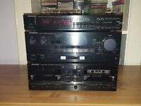 Kenwood meatal seperats units & Aiwa spekers & stand