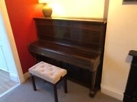 Steck upright piano with stool