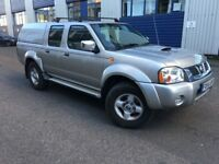 2004 Nissan Navara Pickup D22 2.5 Di Crewcab 4 Wheel Drive Low Mileage 1 year MOT New Engine Fitted