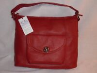 Tula Brand New Vintage Leather Hand Bag made from soft, premium leather,metallic Tula plaque.
