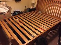 King size bed base - wooden