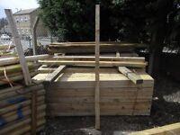 Timber fence post 75mmx75mmx2.4m