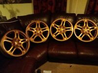 Subaru impreza alloys (gold)