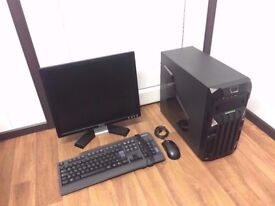 Cheap Gaming Computer PC Complete Setup with Monitor (Intel, 3GB, Nvidia Graphics)