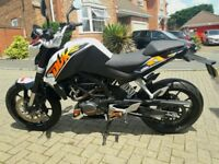 KTM 125 Duke throughout in excellent condition
