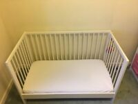 Cot/bed with mattress for sale
