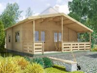 "Self Build 2 bed Lodge ""THE RESIDENCE"" 7.5 x 7.8m + Veranda *50 m² Supplied - Delivered - Installed"