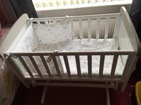 Swinging crib/baby bath