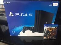 PlayStation 4 PS4 pro 1TB like new used 3 days with 1 game 4K version