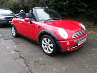 2004 mini convertible clean and tidy inside and out mot until august 2018 black and red leather
