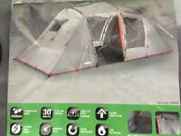 Urban decay 4 man tent complete with 4 sleeping bags and 1x inflatable double matteress