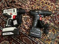 2 x Cordless Drills (Hammer Function)