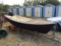 Speedboat Project with 6hp Evinrude Engine and Trailer