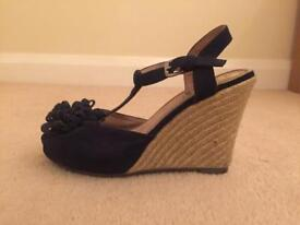 Ladies wedge sandals/shoes size 5