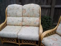 WICKER SOFA AND CHAIR