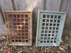 2 reclaimed cast iron metal grills/air vent/grate
