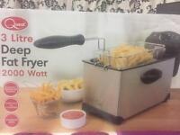 Deep Fat Fryer Stainless Professional Steel, 3 Ltr 💥Bargain £25💥