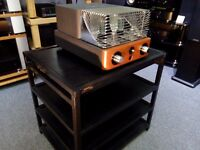 Target Hi-Fi stand. Great sounding British Hi-Fi stand, noise isolating spikes on top shelf and feet