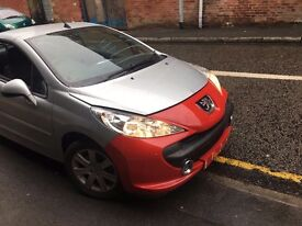 PEUGEOT 207 CC 1.6 5FW DAMAGED SALVAGE BREAKING SPARE PARTS 2007-2012