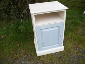 Painted Shabby Chic Cupboard Cream and Duck Egg Bedside Table LEWES COLLECTION