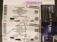 Plan B O2 Academy Glasgow tickets x 2