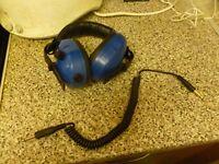 MAZ BIG BLUE METAL DETECTOR HEADPHONES