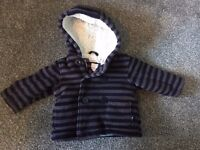 Cosy Bluezoo boy's coat, and Nursery Time snowsuit, both age 3 - 6 months