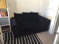 FREE - Sofa - 2 seater navy blue fabric
