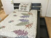 Double bed with orthopedics mattress and under bed cabinets for quick sale due to relocation
