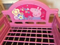Toddlers Peppa Pig Bed With Mattress £25