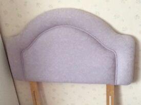 Single light lilac headboard