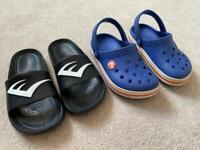 Boys Crocs and Sandals UK10