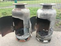 Bespoke Gas Bottle Wood Burner / Chimenea / Patio Heater 2 Available Can Deliver
