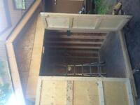 8'x8'x8' wooden shed gabled ends