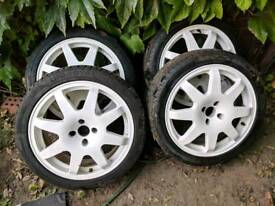"17"" 4x100 Speedline Rally Style Wheels - Renault, Vauxhall, Honda, MG"