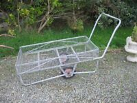 VERSATILE GARDEN TROLLEY. STRONG, DUAL WHEELED, LARGE BASKET. VIEWING/DELIVERY AVAILABLE