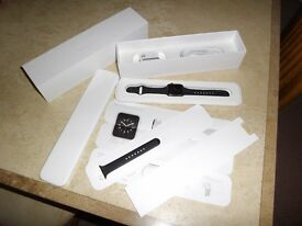 APPLE WATCH 38MM SPACE GREY - AS NEW