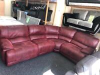 HARVEY CORNER RECLINER Super Comfort Recliner Corner Sofa in Burgundy £270 Ono 07903562526