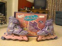 Purple In line skates (Sizes 2-4)