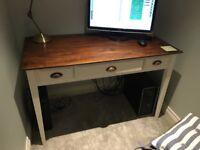 Large wood computer desk