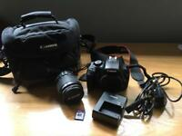 Canon EOS 110FD SLR Camera with lens and bag