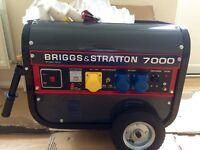 New 7 kva Briggs & Stratton petrol generator silent