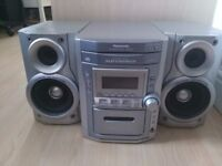 Panasonic 5 CD Multi Changer Cassette Tape Tuner Radio Stereo System