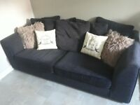 Super comfy and stylish large 3 seater charcoal sofa