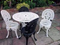 Garden patio set ( aluminum)