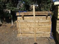 Timber fence post 75mmx75mmx1.8m